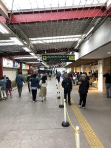 walking to enoshima electric railway and enoden line