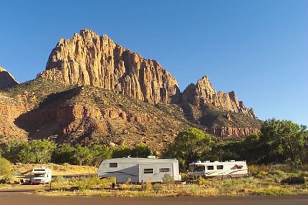 watchman campground where to stay in zion national park