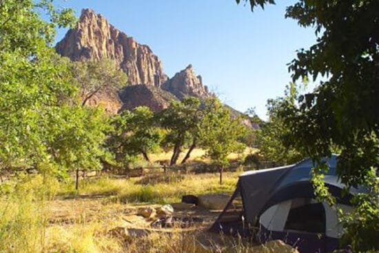 zion national park south campground campsite