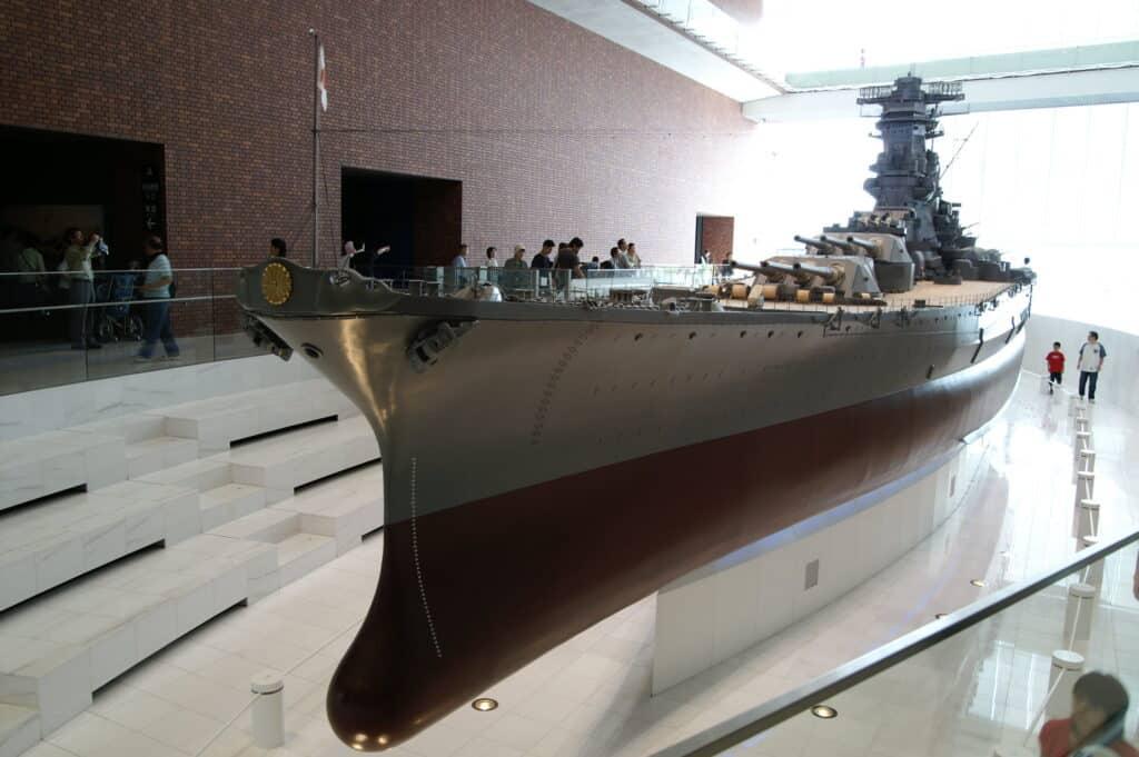 Large ship on display in museum in Aki-ku, Hiroshima.