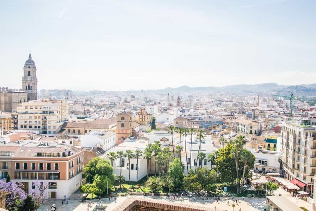 daytime citywide view of malaga spain