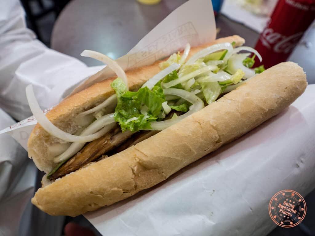 deniz yildizi balicki fish sandwich