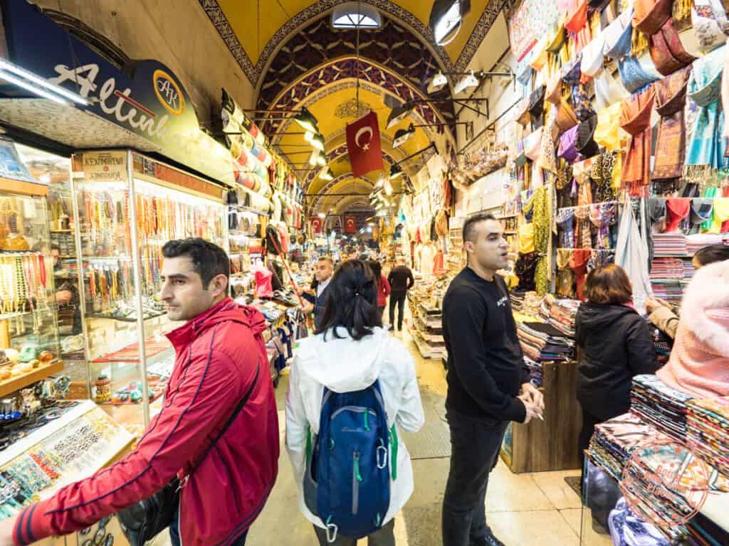 exploring the alleyways inside grand bazaar