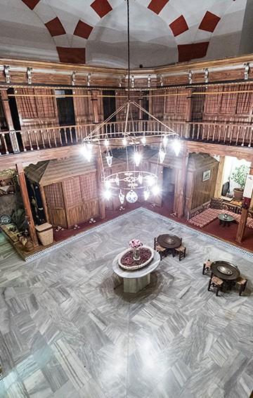 interior of suleymaniye hamami bath house