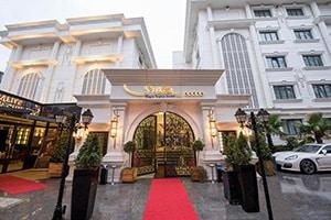 grand red carpet entrance to sura hagia sophia hotel