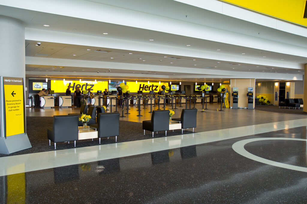 hertz car rental counters at airport location and how to use discount codes