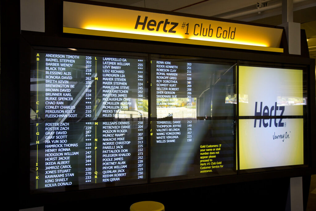 hertz gold plus rewards member board to skip the counter