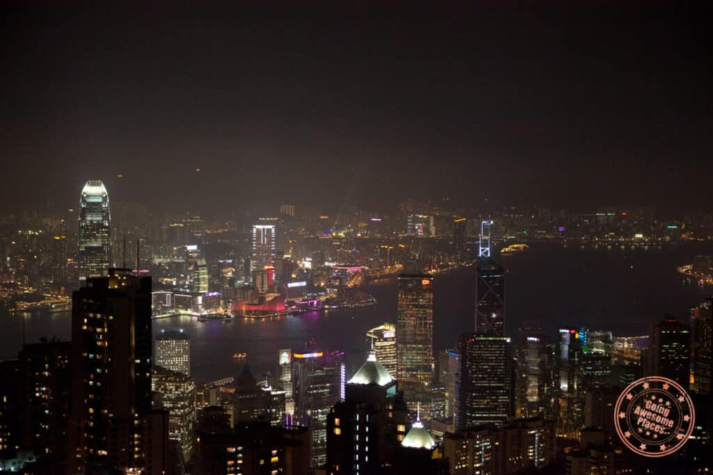 hong kong evening skyline