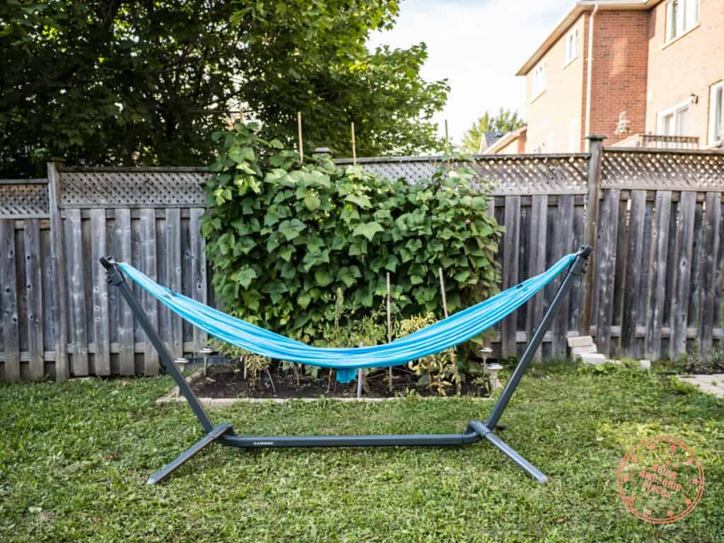 kammok swiftlet portable hammock stand with roo single set up