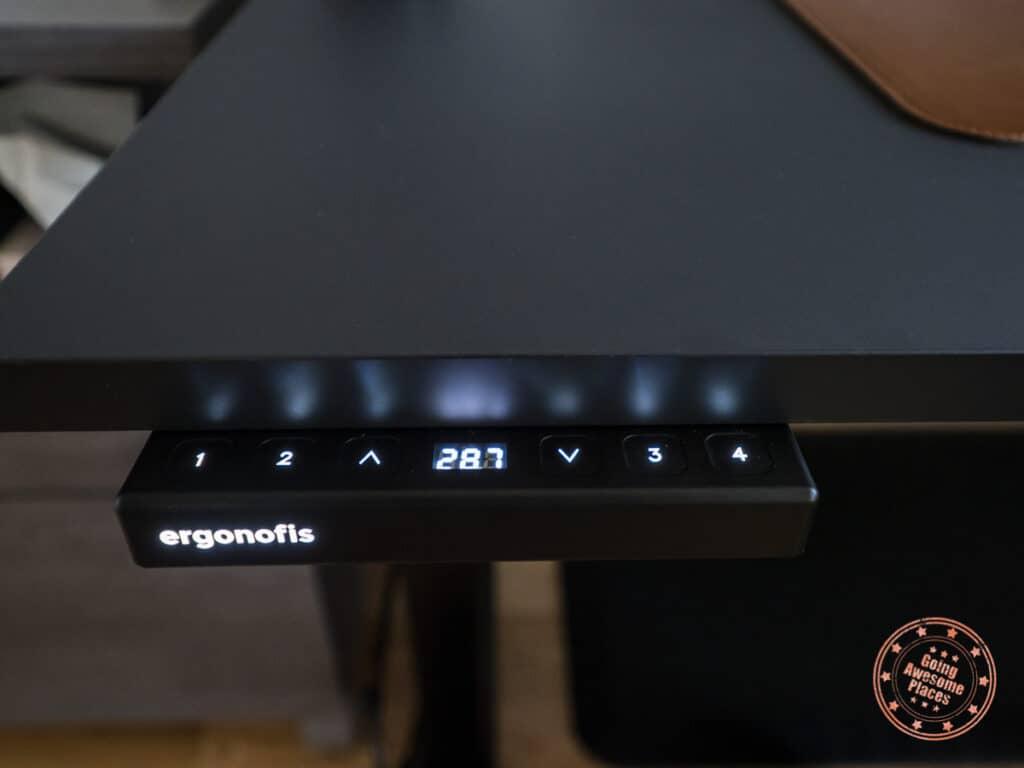 ergonofis control pad lit up