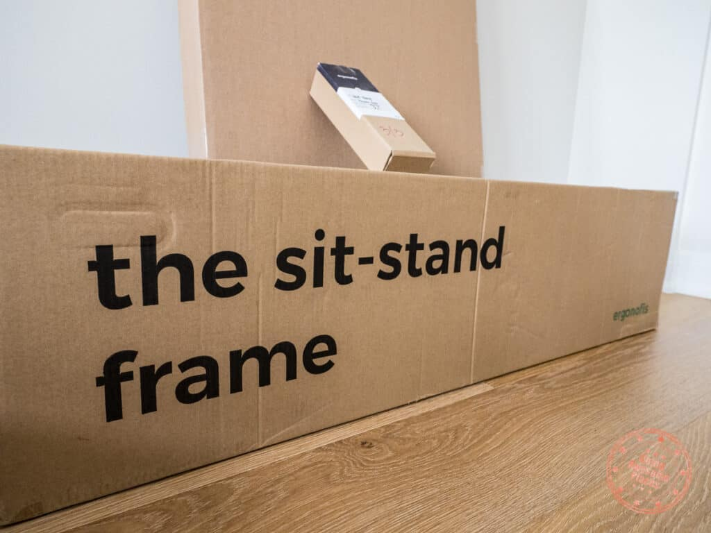 ergonofis sit stand frame packaging box