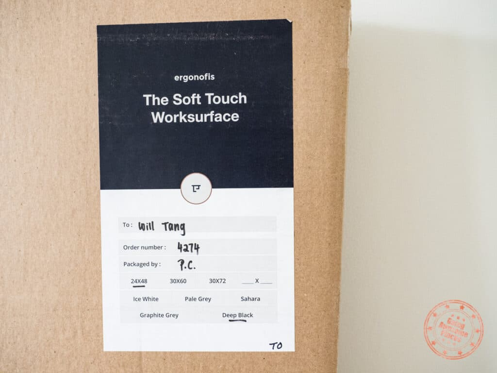 soft touch worksurface box for the ergonofis shift 2.0 review