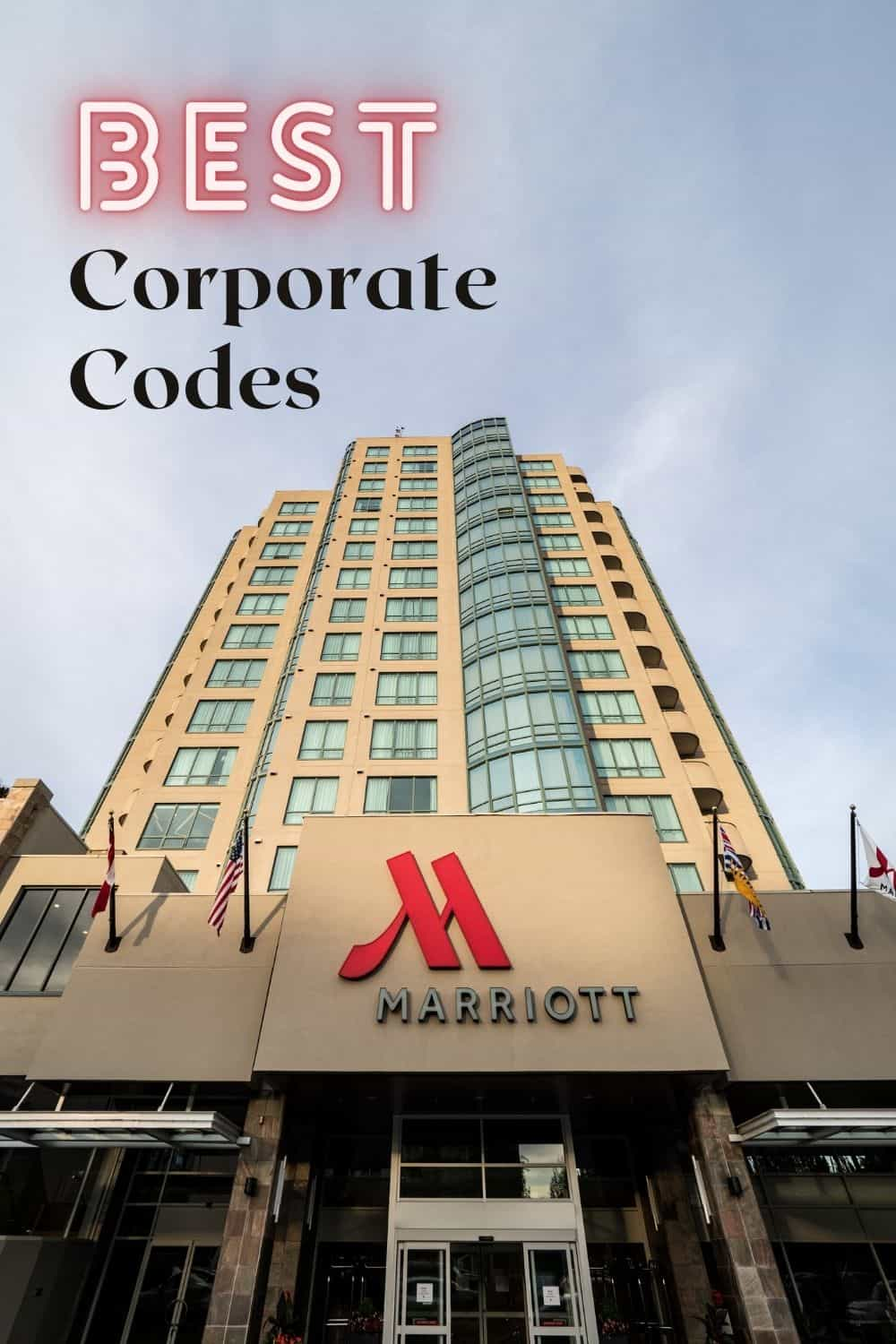 Marriott Corporate Codes - The Best Ones and How to Use Them