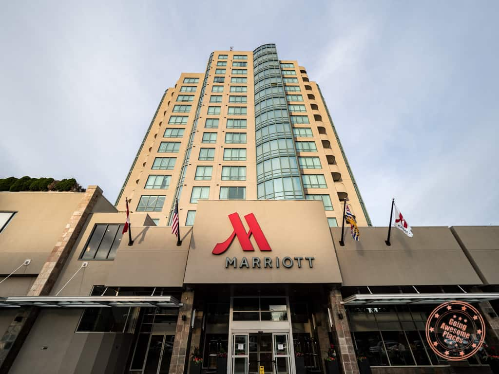 marriott vancouver airport hotel entrance