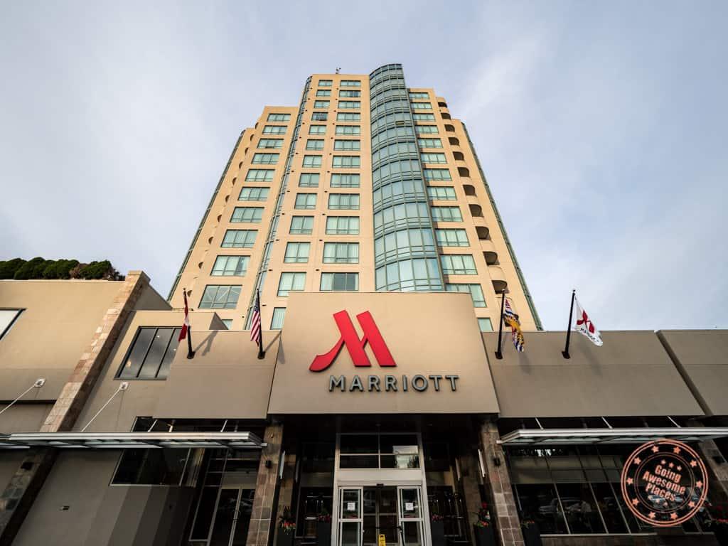 marriott vancouver airport hotel entrance