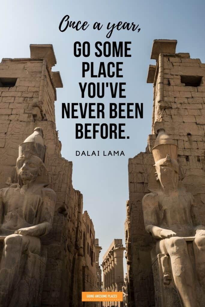 dalai lama inspirational travel quote