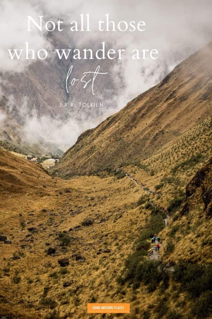 not all who wander are lost by j.r.r. tolkien travel quote