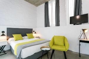Affordable hotel room at La Puerta de Palacio in Seville, Spain