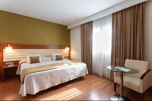 Mid-Range hotel room at Monte Triana in Seville, Spain
