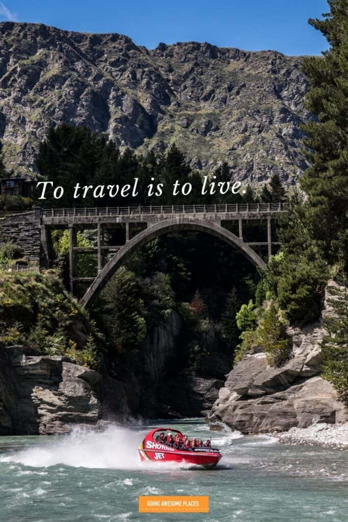 to travel is to live with shotover jet in new zealand