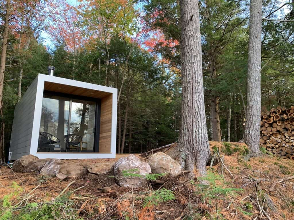 airbnb muskoka cottage called aux box tiny home