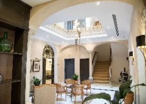The lobby of the Hotel Gravina 51 in Seville