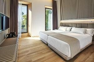 Modern hotel room at Hotel Kivir in Seville, Spain
