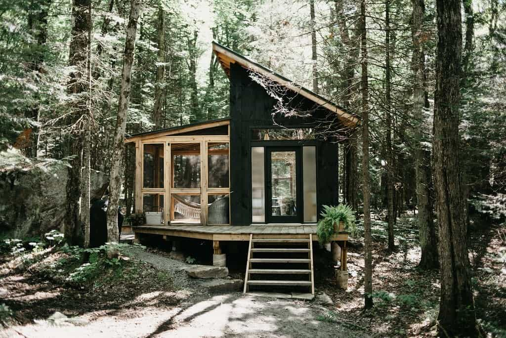 airbnb muskoka eco cabin exterior cottage