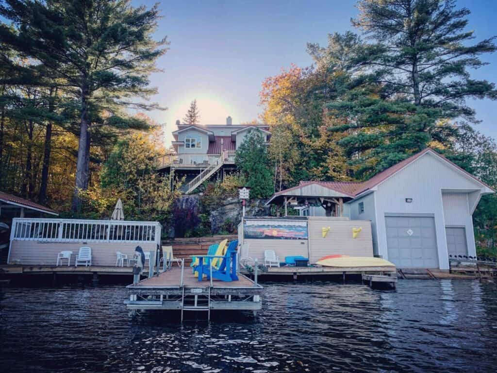 south muskoka waterfront retreat exterior airbnb cottage