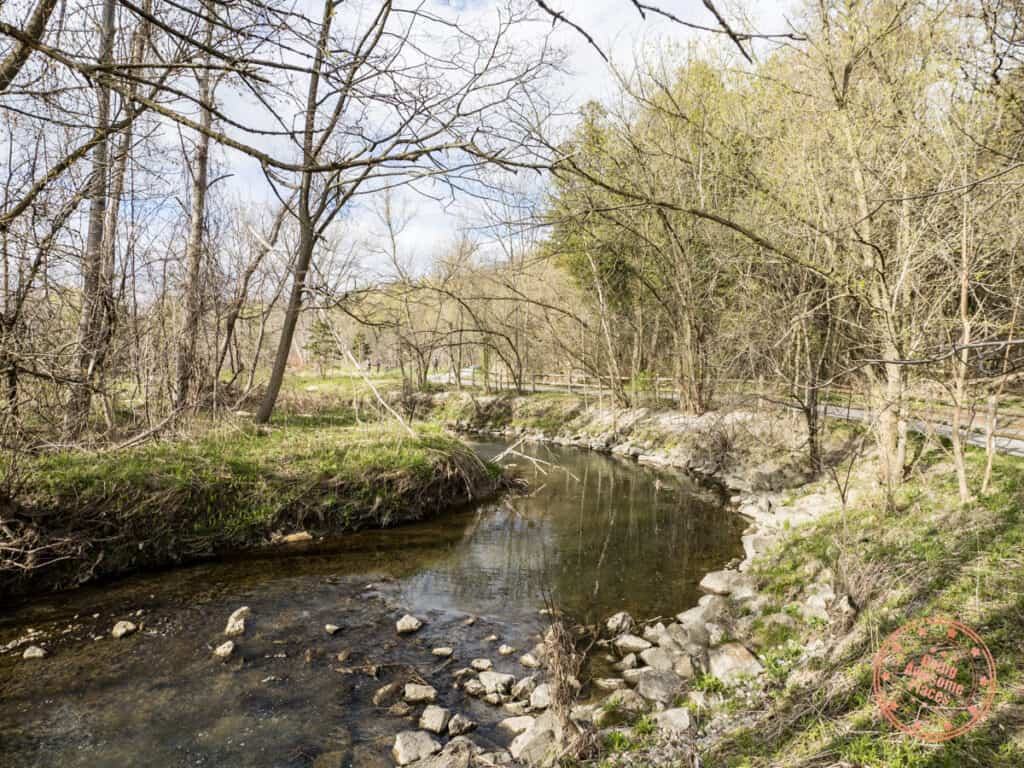 german mills settlers park and the duncan woods creek in markham