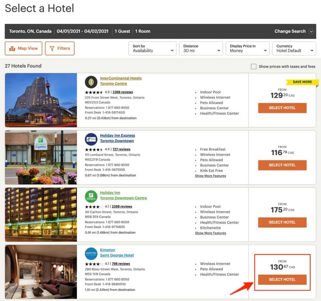 how to enter your ihg hotel corporate code in this step to select a hotel