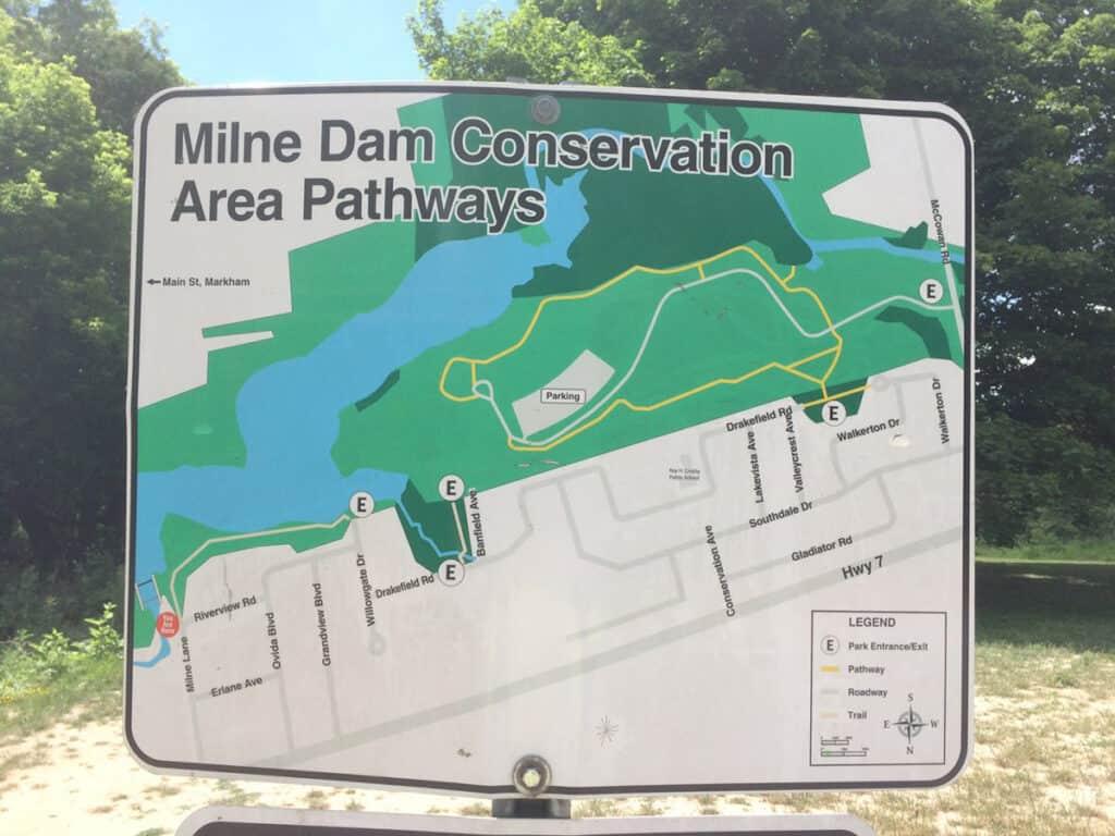 milne dam conservation park trail map