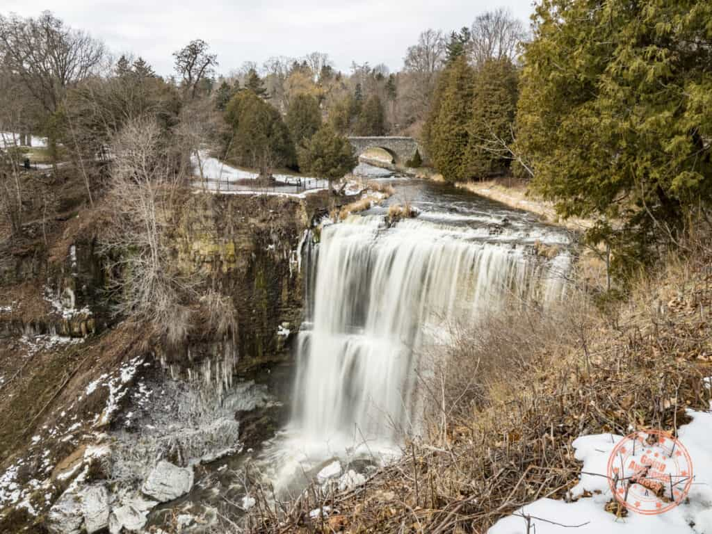 hamilton webster falls in the winter
