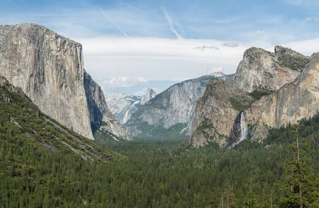 yosemite national park and view of half dome