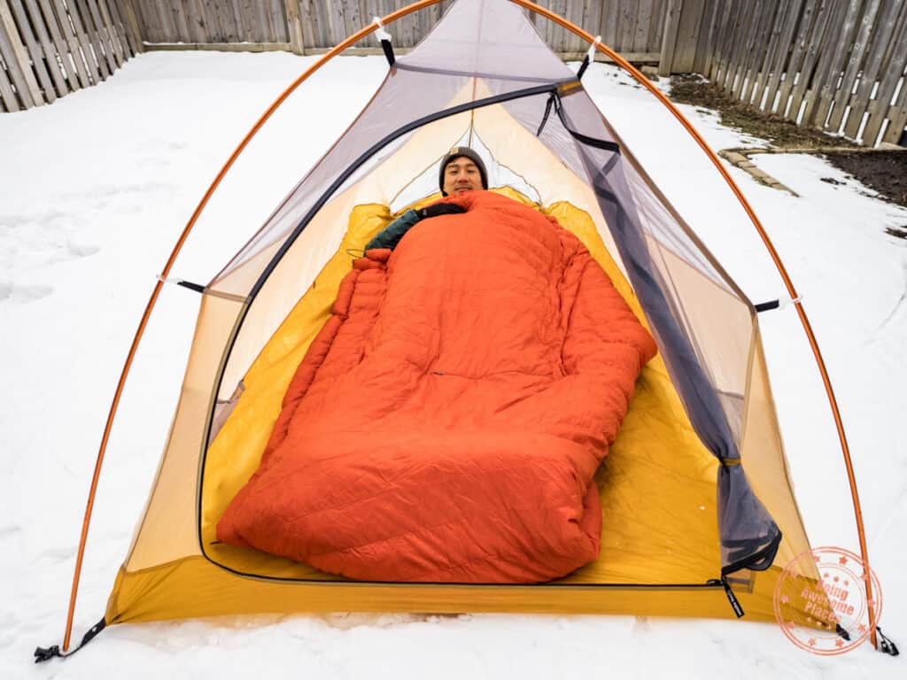kammok firebelly trail quilt as a camping blanket