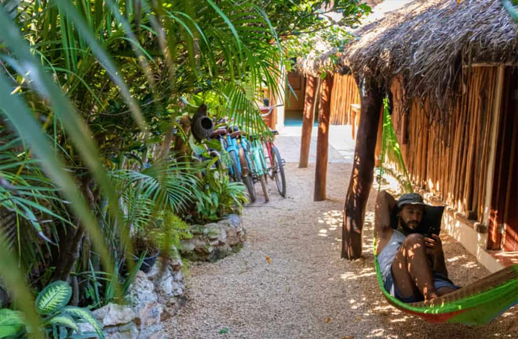 chill in is one of the best hostels in tulum mexico