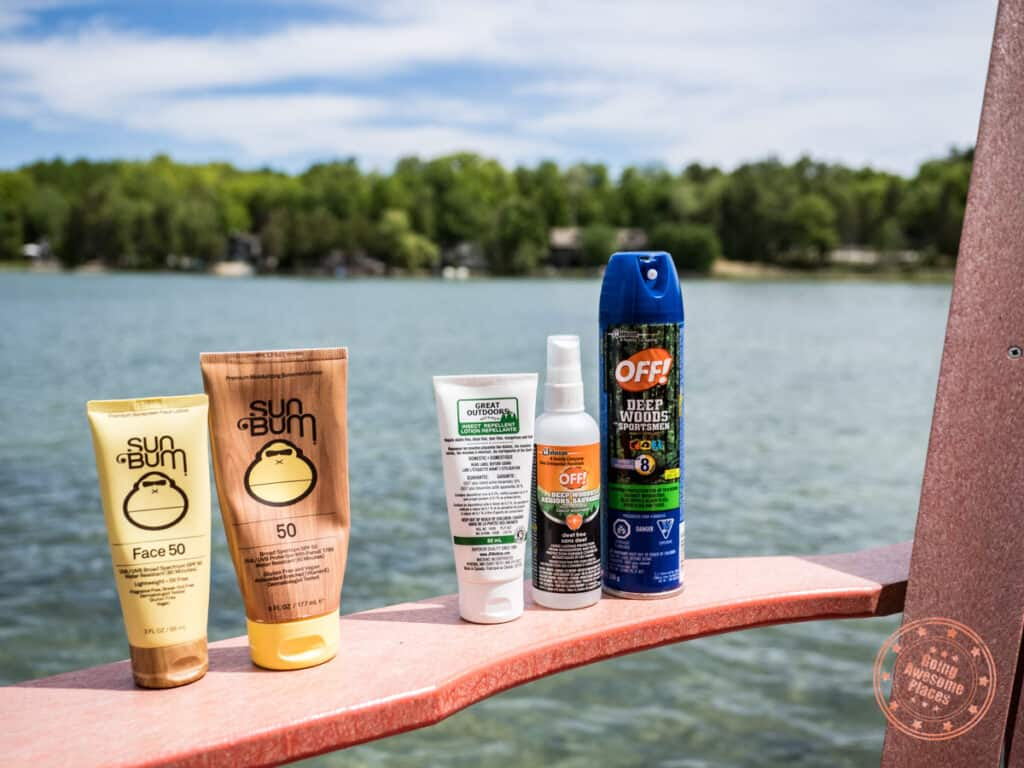 cottage packing list sunscreen and bug spray essentials