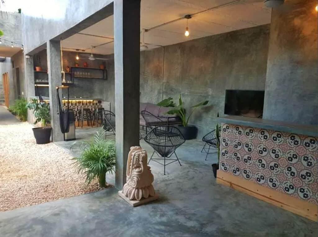 lum hostel tulum interior by reception