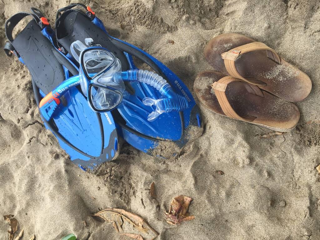 self guided snorkeling in maui gear