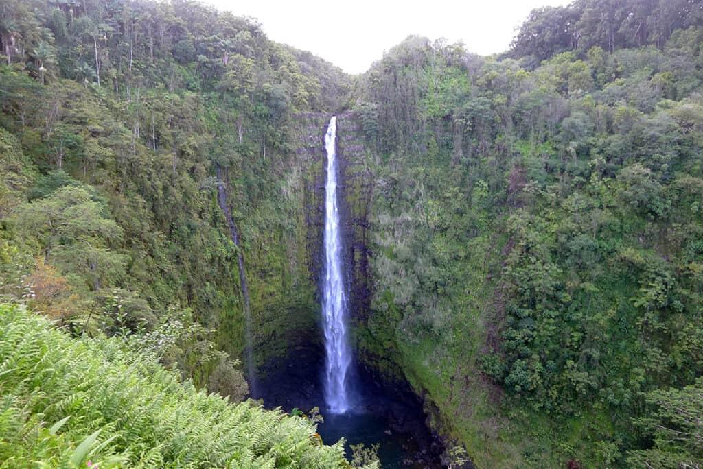akaka waterfall in big island hawaii