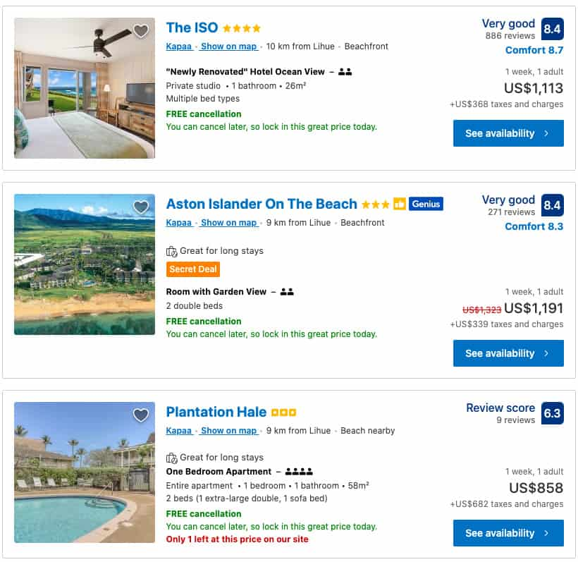 booking com hotel prices to compare against priceline pricebreakers