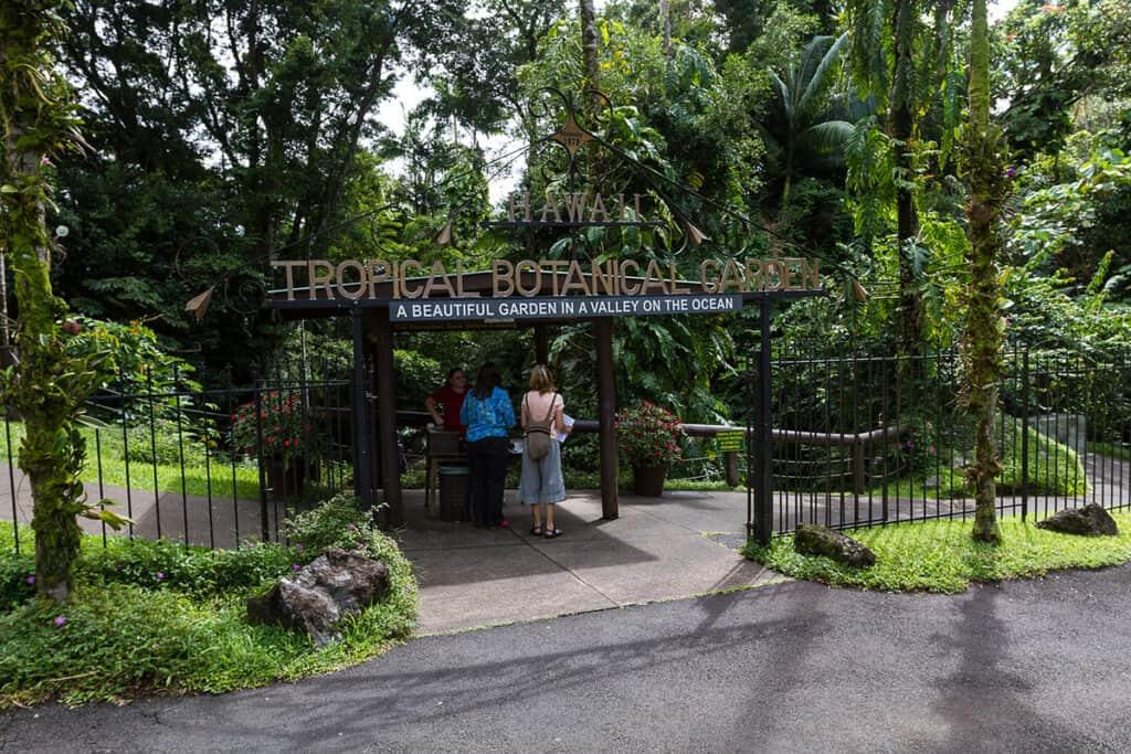 hawaii tropical botanical garden entrance