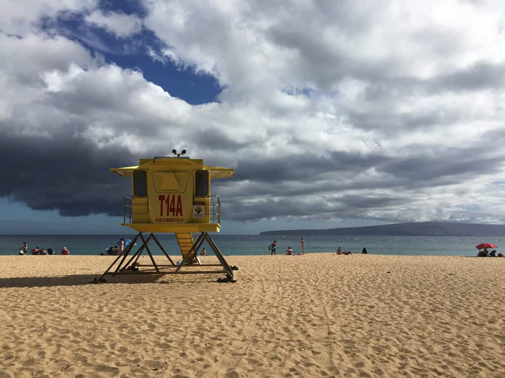 makena state park lifeguard tower