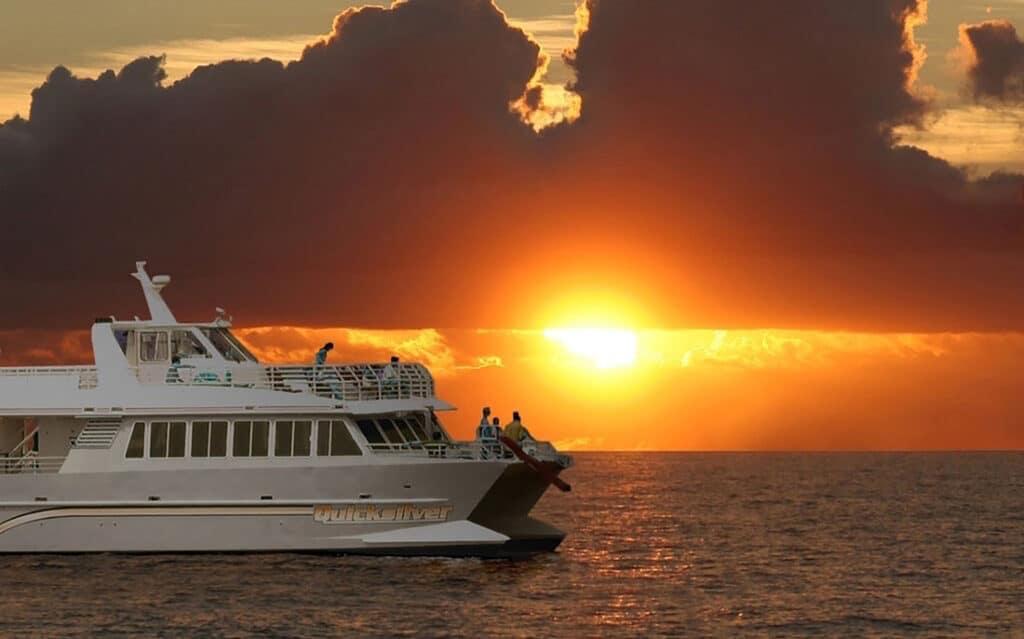 maui sunset dinner cruise aboard a catamaran from lahaina