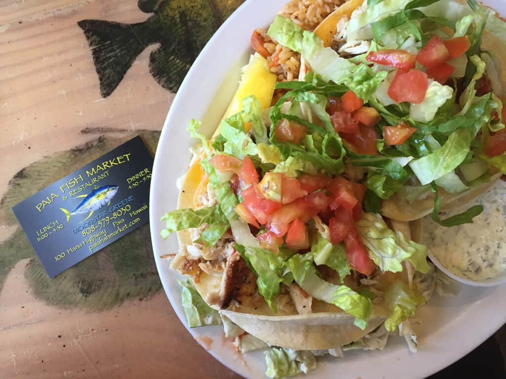 paia fish market tacos for lunch