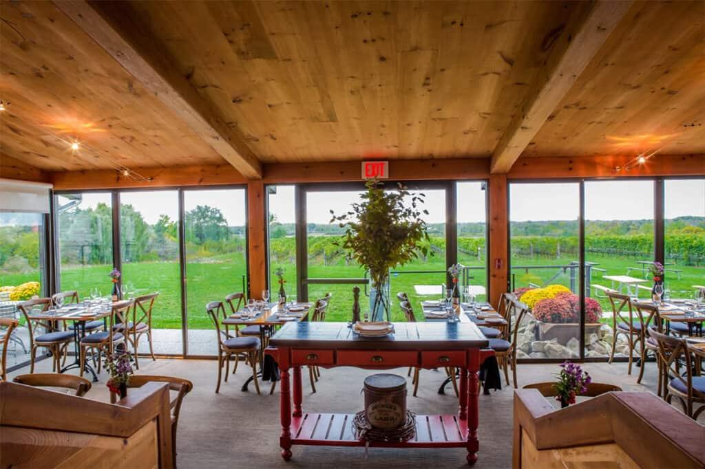 ravine vineyard estate winery restaurant interior