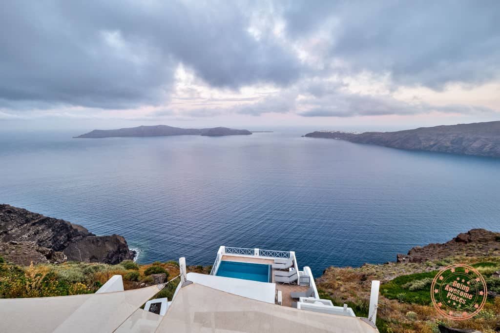 sunrise view from villa in imerovigli which begs the question is santorini worth it