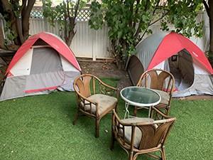 tiki beach hostel camping