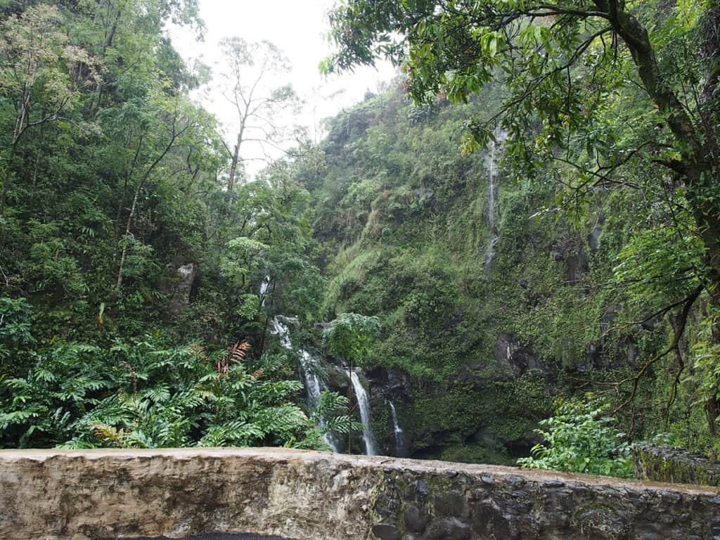 upper waikani falls along road to hana in maui itinerary