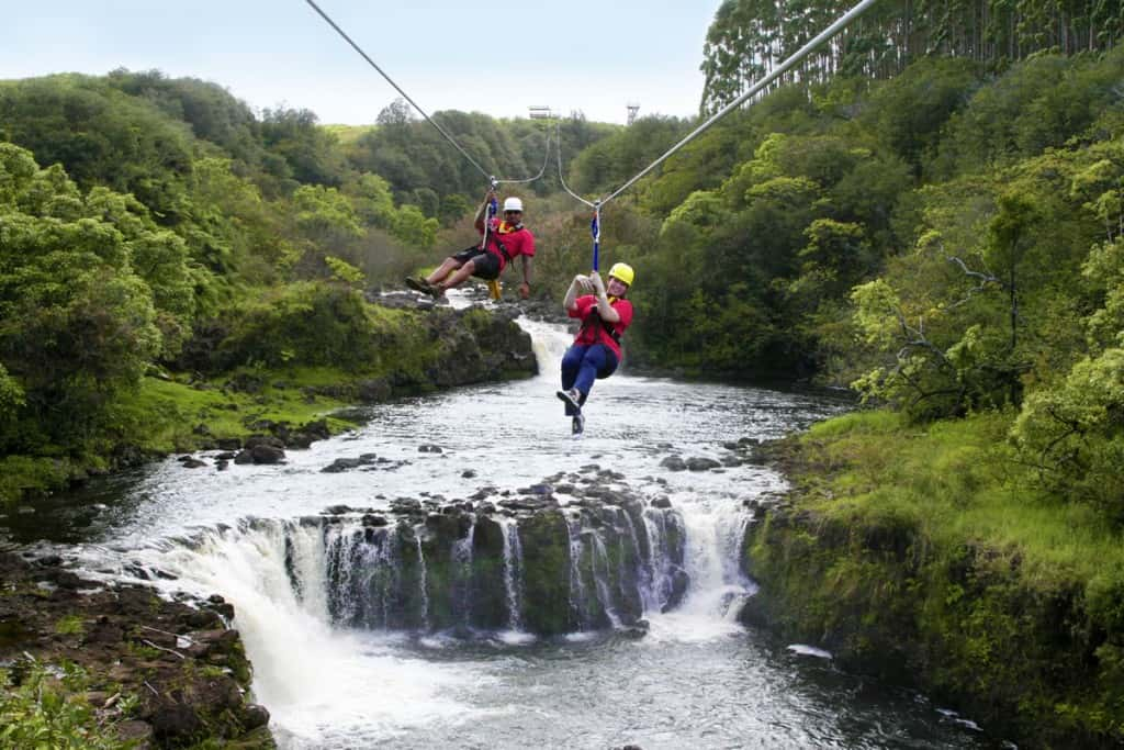 ziplining umauma falls is a guided waterfall tour on big island hawaii